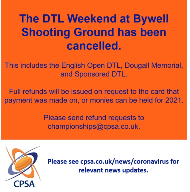 DTL Weekend Cancelled