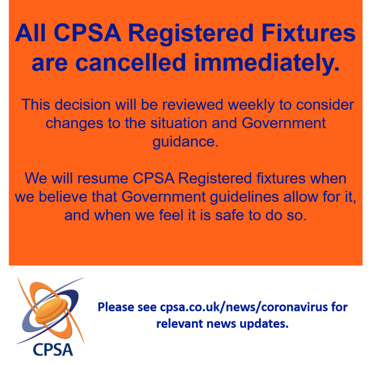 Registered Fixtures Cancelled