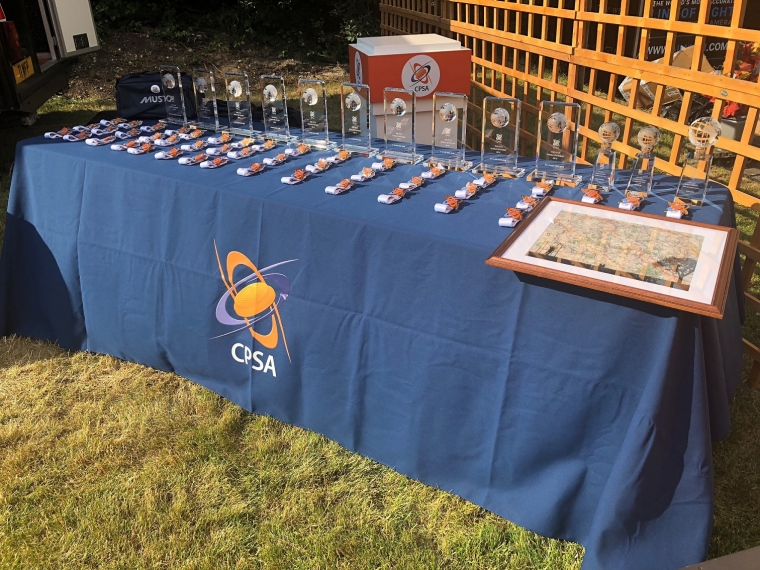 Sportrap Prize giving table