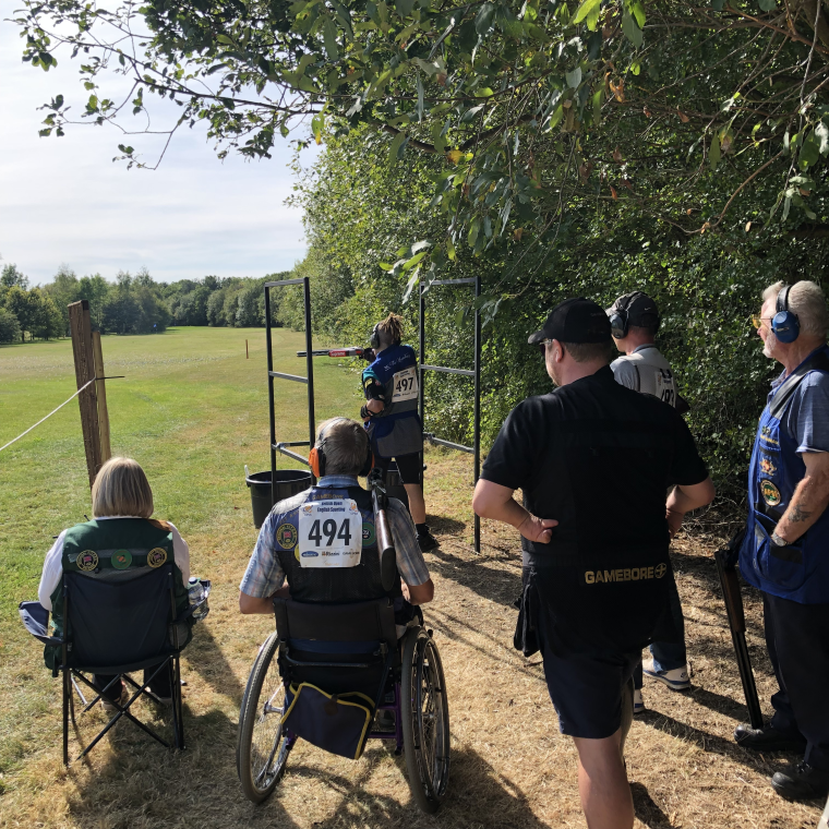 Disabled Shooters Group members at the BO ESP
