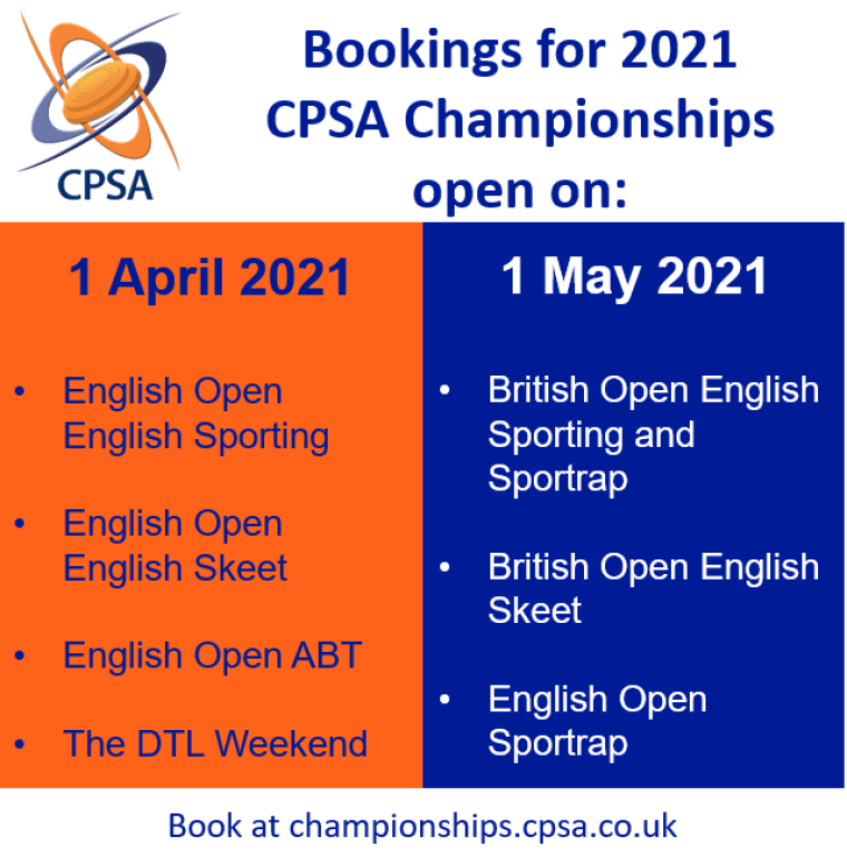 Championship Booking Dates