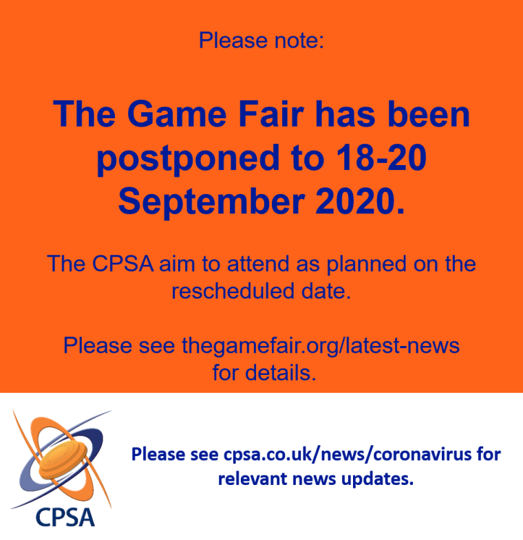 The Game Fair postponed