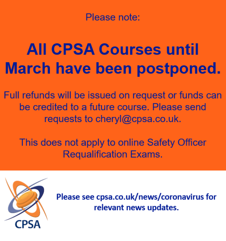 CPSA Courses Postponed